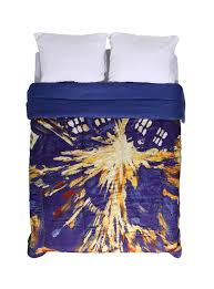 doctor who exploding tardis queen comforter topic