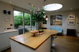 kitchen island worktops uk wide plank oak island worktop with curved breakfast bar home