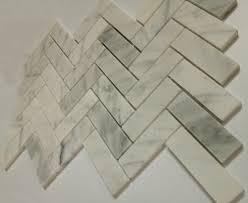 mango milton mountain white herringbone marble backsplash tile sheets