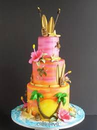 hawaiian themed wedding cakes 9 tropical theme engagement party cakes photo tropical backyard
