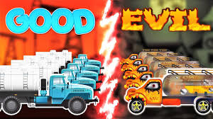 oil truck war w good vs evil street vehicles battles for