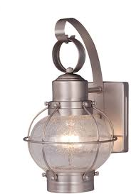 Exterior Wall Sconce Light Fixtures Vaxcel Ow21861bn Chatham Nautical Brushed Nickel Finish 12