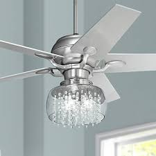 grey ceiling fan with light ceiling fans with crystals brilliant 52 casa optima brushed steel