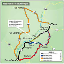 Taos New Mexico Map by Gas Pipeline Construction To Impact Traffic To Taos Valley Daily