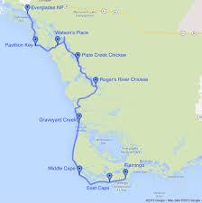 Florida Everglades Map by 8 Day Everglades Kayak Tour