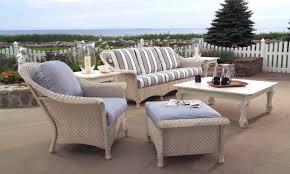 coastal patio furniture wicker chairs lloyd flanders white wicker