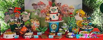 paw patrol candy table ideas hedgehog lane home hedgehog lane themed party decor