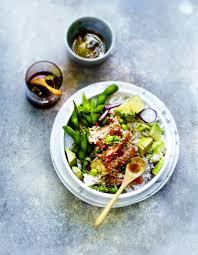 cuisine saumon poke bowl saumon légumes sauce sésame pour 6 personnes recettes