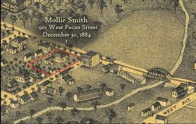 Austin Map by Victims And Locations The Servant Murders Austin Texas 1885