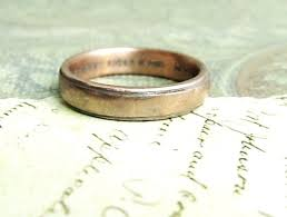 gold mens wedding bands custom made rustic men s wedding band in gold by