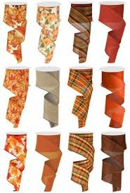wired ribbon wholesale 40 fall wired ribbon 12 pc thompson wholesale inc