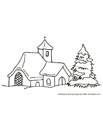 christmas scenes coloring pages church lone tree