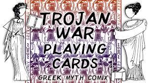 trojan war playing cards by greek myth comix by l e jenkinson