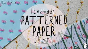 decorative paper make your own decorative paper handmade patterned paper sheets