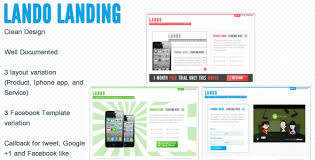 lando landing page with facebook template by flatlylab themeforest