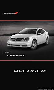 dodge avenger 2011 2 g user guide