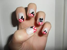 minnie mouse inspired nails nail art ideas
