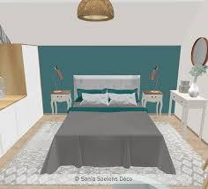 deco chambre d amis projet client une chambre d amis en bleu bois et blanc