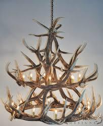 antler chandeliers and lighting company light real deer antler chandelier elk group international