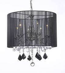 Black Chandelier With Shades G7 1126 6 Gallery Chandeliers With Shades Crystal Chandelier With