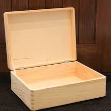 plain wooden box storage box wooden chest decoupage size