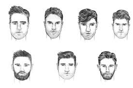 hhort haircut sketches for man how to choose a hairstyle for your face shape man of many