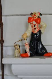 68 best porcelain clowns images on pinterest clowns figurines vintage clown and pet puppy figurine by oldgreenlion on etsy
