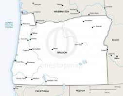 political map of oregon free vector map of oregon outline one stop map