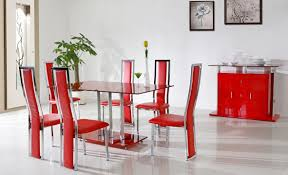 Leather Dining Room Set by Awesome Red Dining Room Chairs Ideas Home Design Ideas