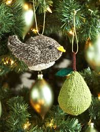 patons partridge or a pear tree ornaments knit pattern
