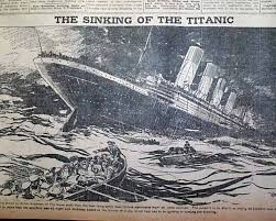 List Of Ship Sinkings by Titanic Headline And A Graphic Of The Sinking Ship