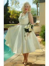 vintage ivory wedding dress 50s style wedding dresses ivory 1950s inspired tea length dress