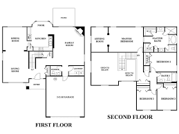 Two Storey Floor Plans Download Two Story 5 Bedroom House Plans Adhome