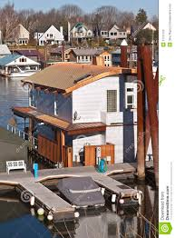 floating houses in portland oregon royalty free stock images