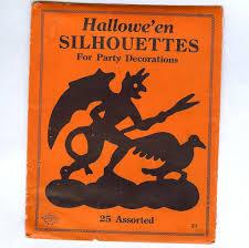 halloween mark original package u201challoween silhouettes u201d beistle company diamond