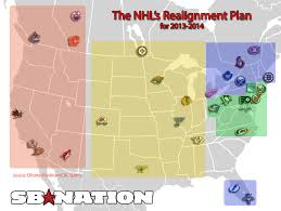 Nba Usa Map by Nhl Realignment Board Of Governors Approve Proposal New System