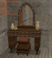 The Brick Vanity Table with A Nice Medieval Themed Vanity Table For Your Royals And Noblewomen
