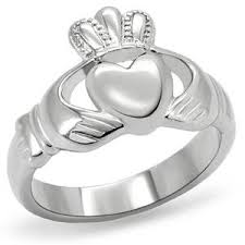 clatter ring women s stainless steel claddagh ring claddagh