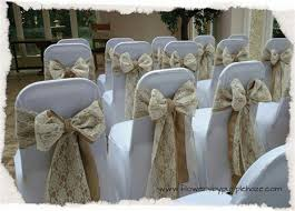 lace chair sashes wanted hessian lace or floral chair sashes wedding forum you