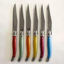 laguiole kitchen knives wall pictures ideas vintage steak knives laguiole colored steak