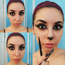Cat Eye Makeup Halloween Cat Face For Halloween The With Bangs
