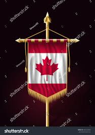 Hanging American Flag Vertically Flag Canada Festive Banner Vertical Flag Stock Vector 463412066