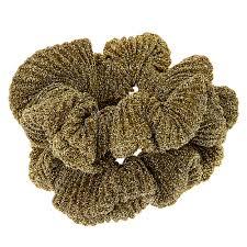 hair scrunchies metallic gold lurex hair scrunchies s us