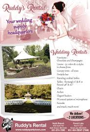 wedding supply rental wedding supply headquarters ruddys rental
