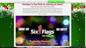 6 Flags Hours Holiday In The Park Six Flags New England 2017 My Thoughts Youtube