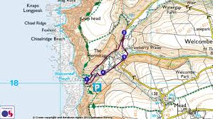 Map A Running Route by 3 2 1 Routes Welcombe Mouth 1 Mile Route National Trust