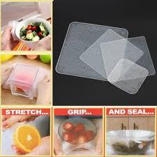silicone cuisine 4 pcs reusable stretchable silicone food wraps kingaloo