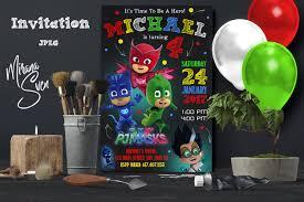 pj masks invitation pj masks invite pj masks birthday pj