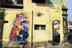 ipoh street art wall paintings murals malaysia singapore lion dance and drumming wall murals