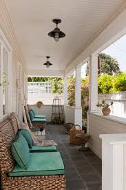 architecture inspiring porch in bungalow with tile flooring and